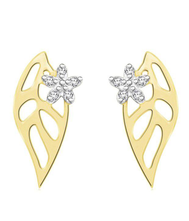 Sparkles 0.03ct. Diamond & 18kt Gold Contemporary Studs