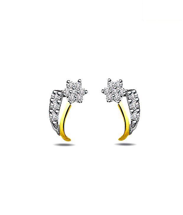 Surat Diamond Enticing 18kt Gold Earrings