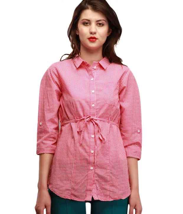 Wrangler Stunning Red-White Printed Shirt