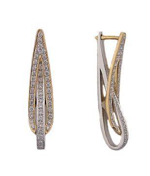 Bling 0.60ct. Diamond 18kt Gold Designer Earrings