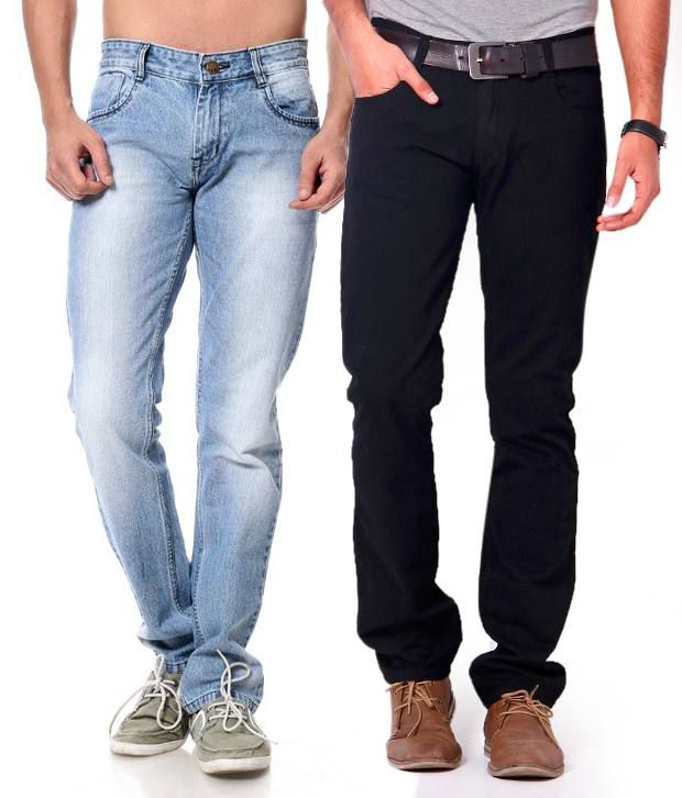 Leana Combo of Black & Blue Jeans