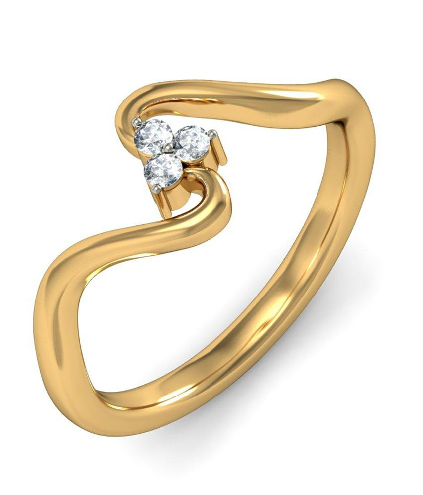 Mariposa Ring Hallmark 14Kt Gold Ring with Certified SI/IJ Diamonds