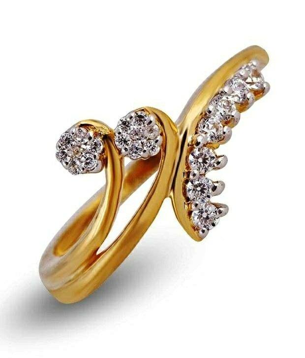 Shashvat Jewels silver Crossing Diamond Ring