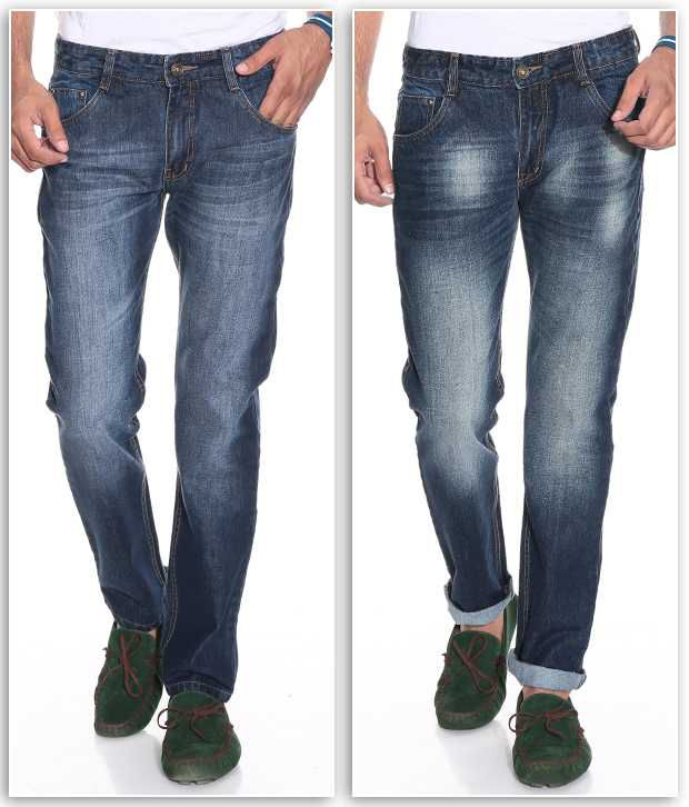 PHOENIX Blue Regular  Fit Jeans