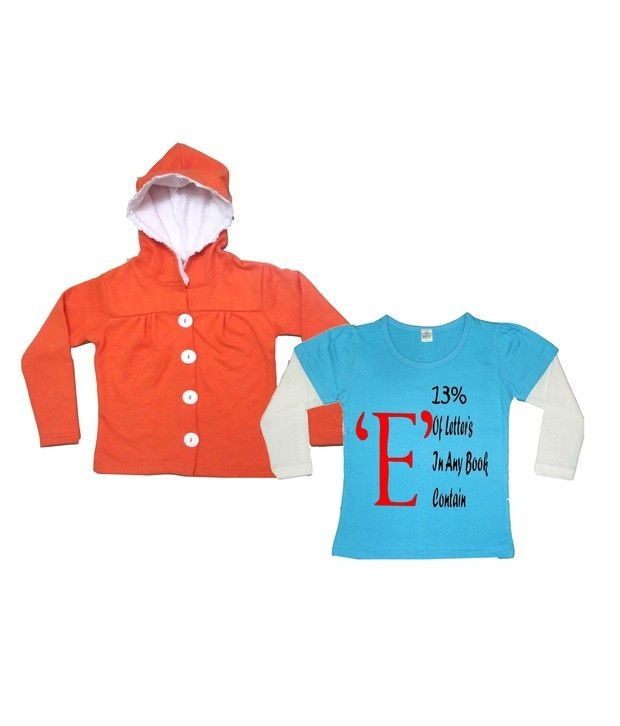 Goodway Pack Of Tee & Hooded  Sweatshirts For Girls
