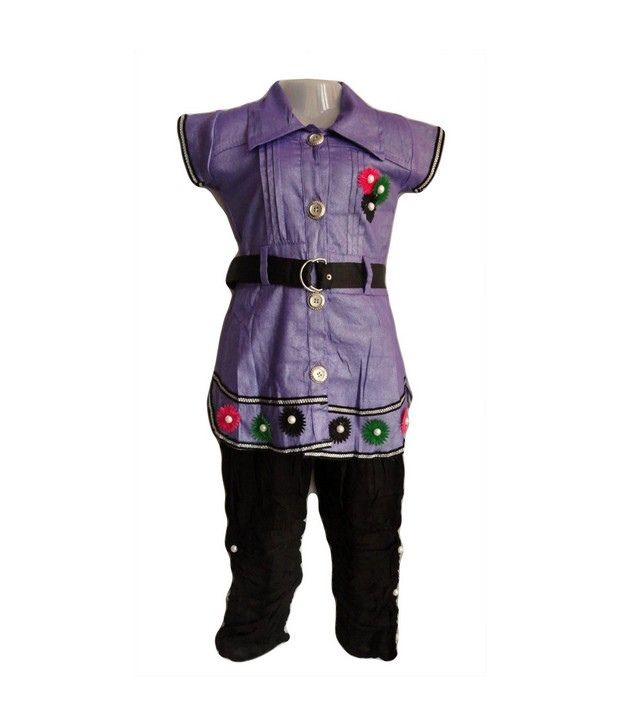 Preety Girl-Stylish and Smart Suits(Purple) For Girls