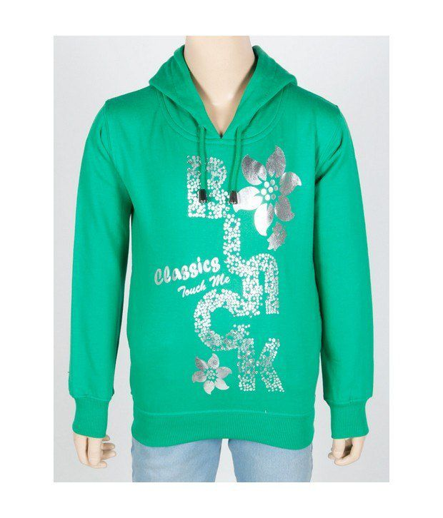 Touch Me Green Sweatshirt For Infant Girls