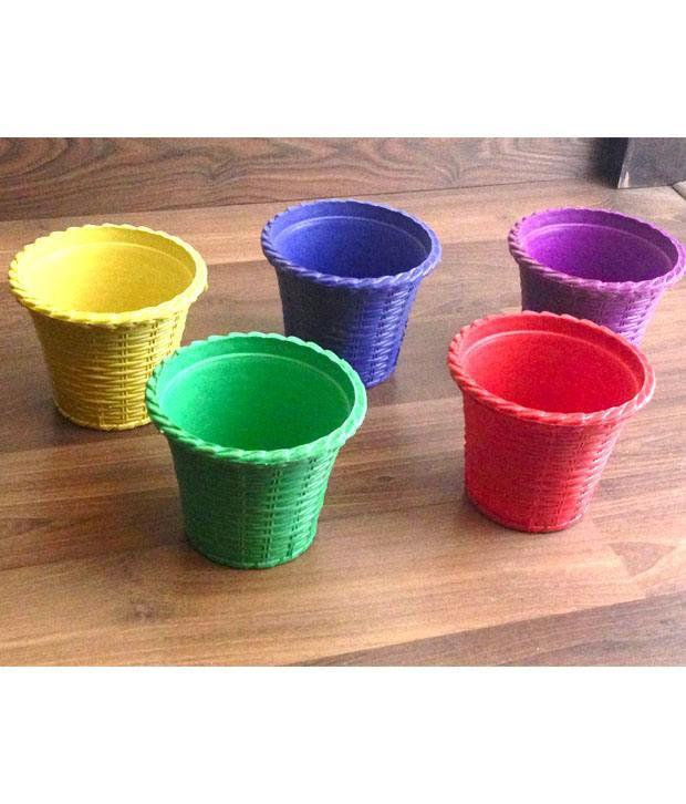 E Plant Multicolour Plastic Pots Planters Buy E Plant