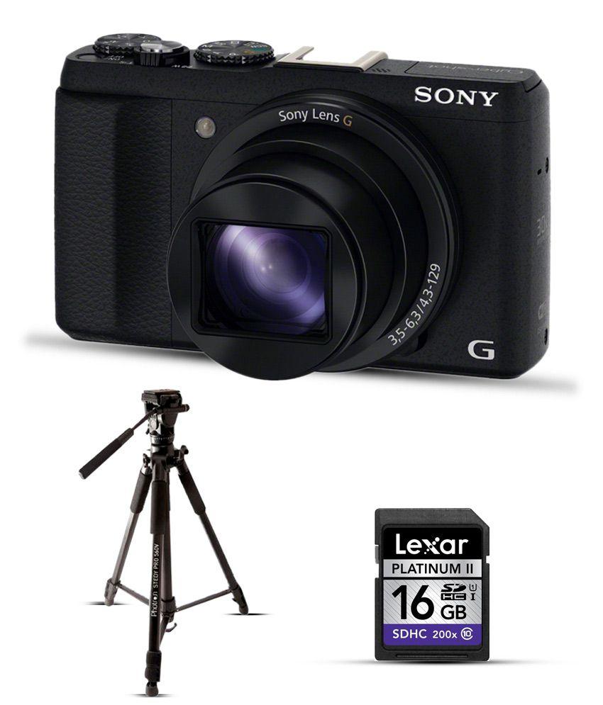 sony cyber-shot hx60v 20.4 megapixels digital camera-black