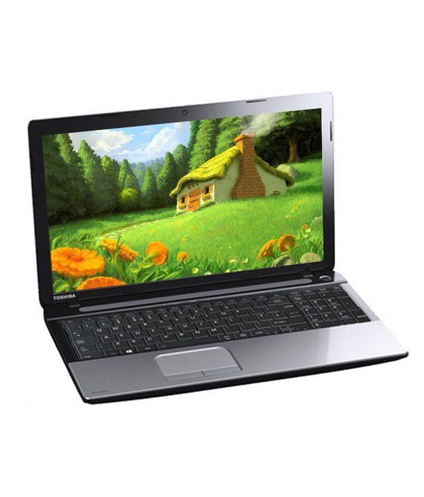 Toshiba Satellite C50-A E0011 Laptop (Intel Celeron - 2 GB RAM- 500 GB HDD- 39.62cm (15.6) Screen- DOS) (Premium Shining Silver)