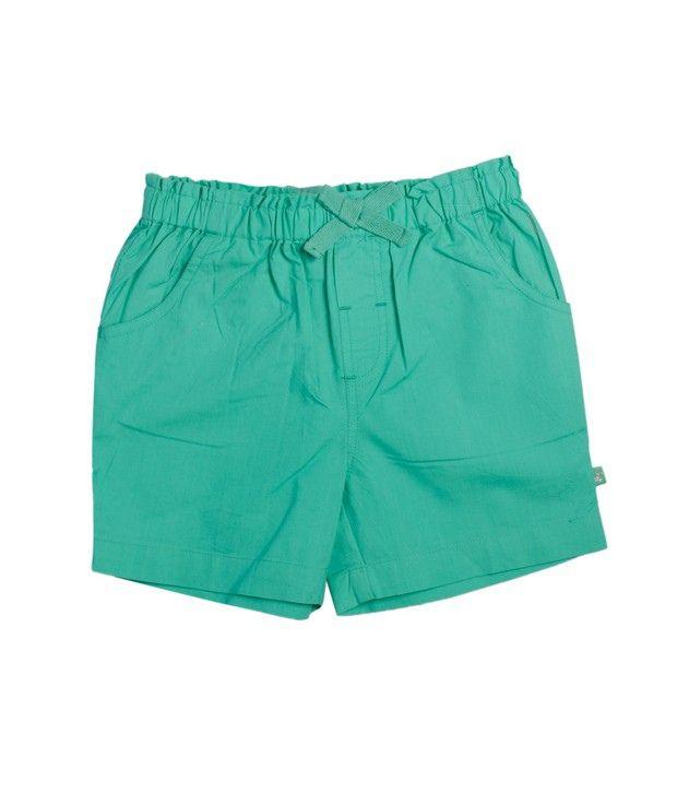FS Mini Klub Mint Woven Shorts For Kids