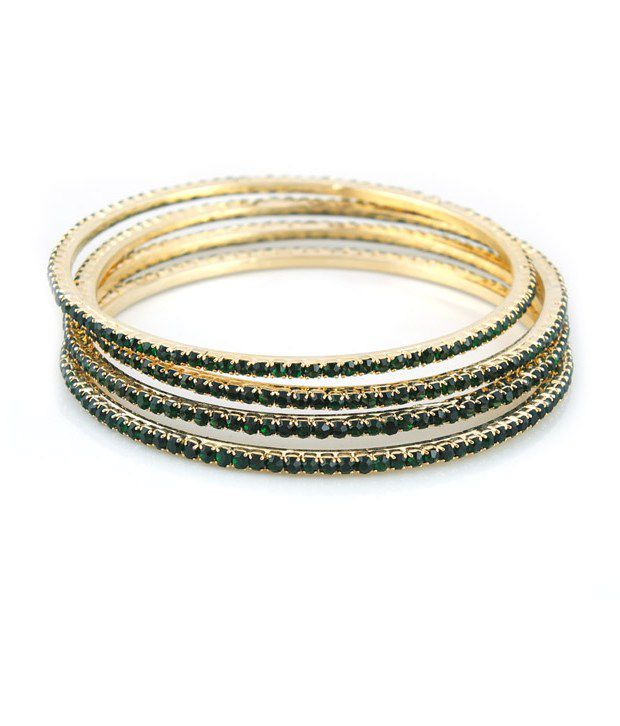 home red bangle ad bharatjewel green stone bangles
