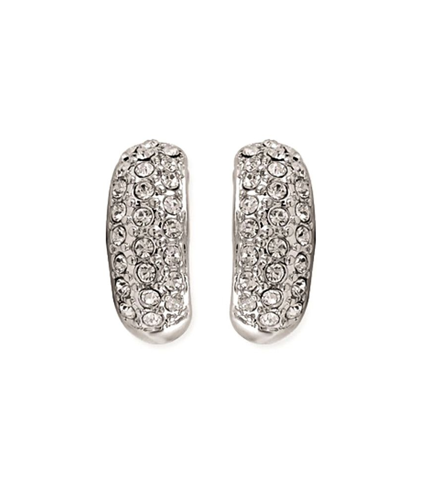 Kaizer Venerate White Gold Plated Stud Earrings