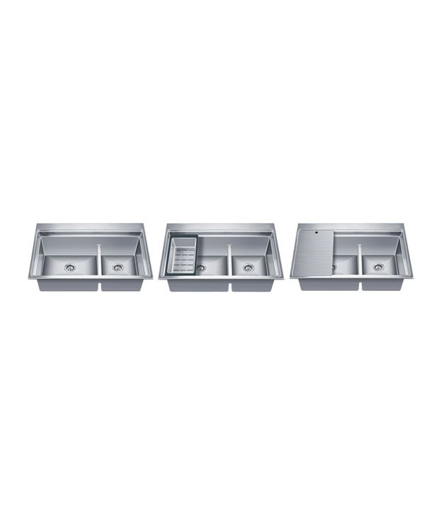 nirali kitchen sink double bowl exa satin - Nirali Kitchen Sinks