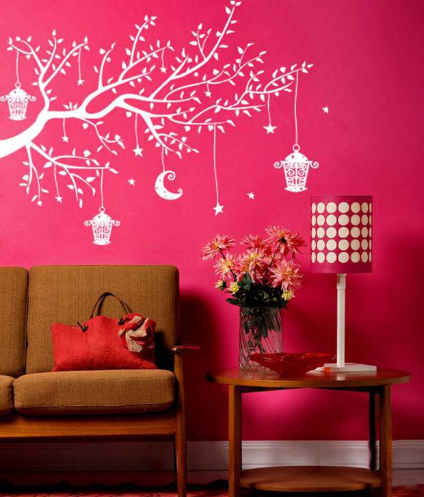 wall whispers tree with the night glitterz wall sticker