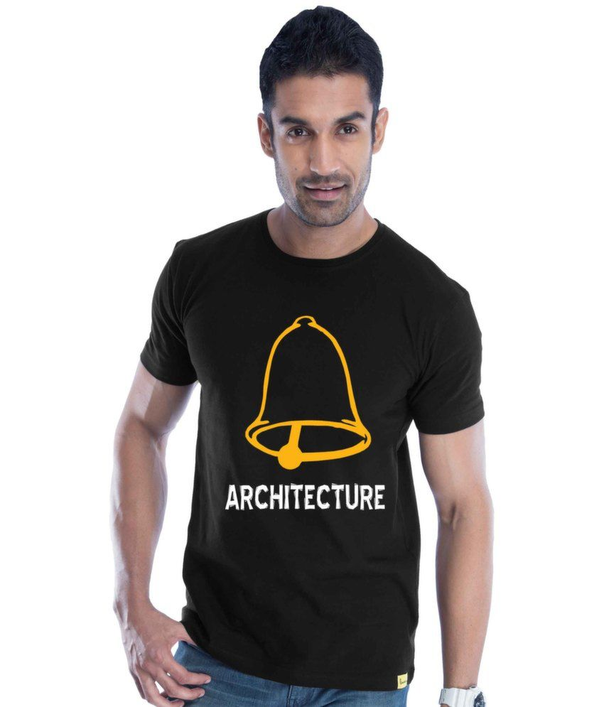 Ghanta Architecture Cotton Black   T-Shirt