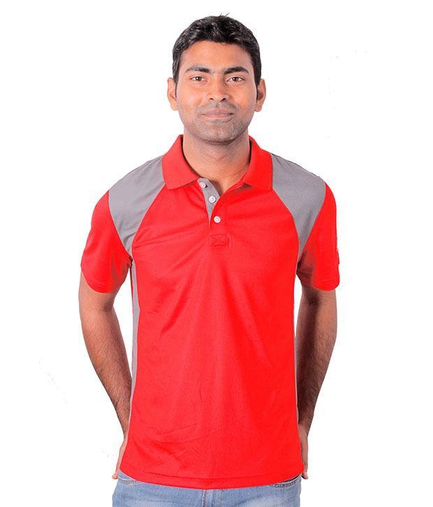 Puma Red Half Polo T-Shirt