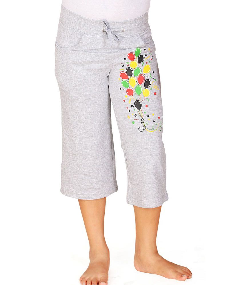 SINIMINI Gray Capris For Girls