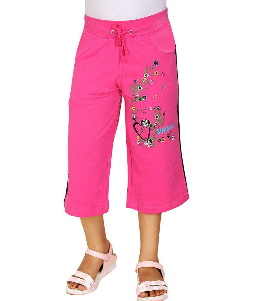 Sini Mini Pink Capris For Girls