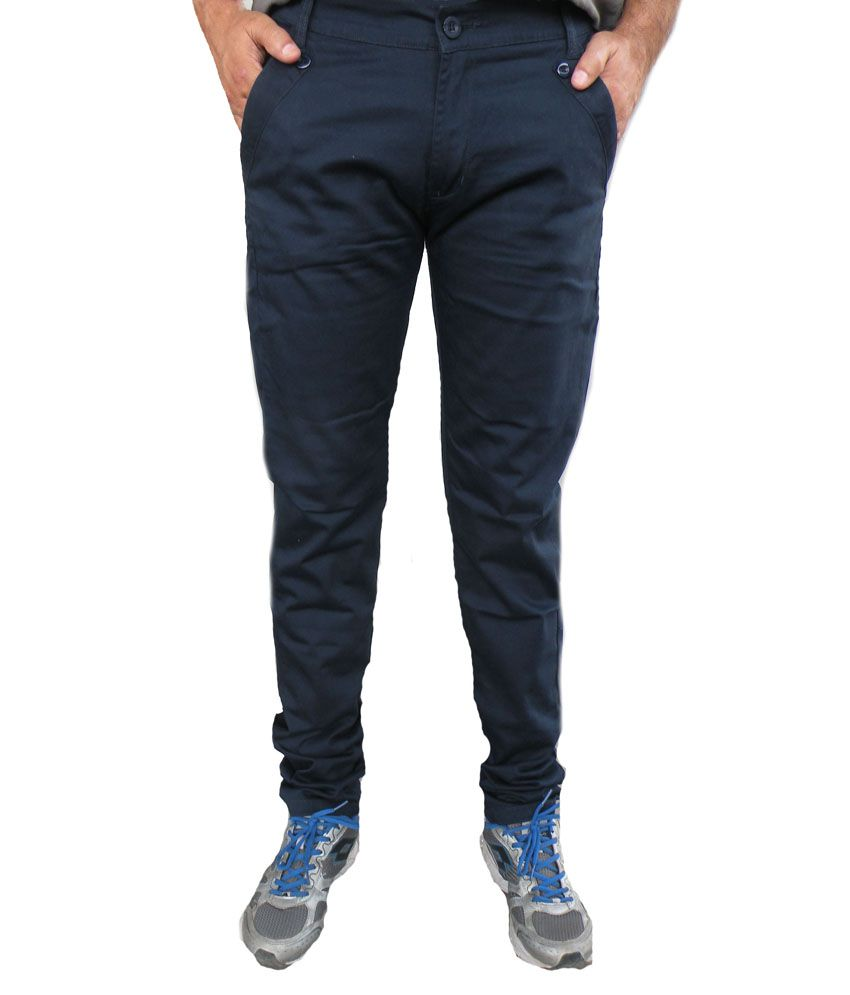 Trendi24x7 Navy Regular Casuals Chinos