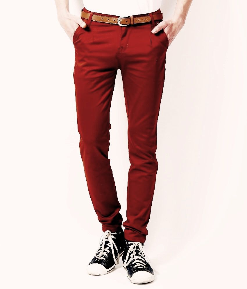 VAM Jeans Red Cotton Chinos