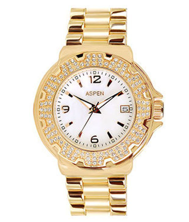 Aspen Women's Golden Watch