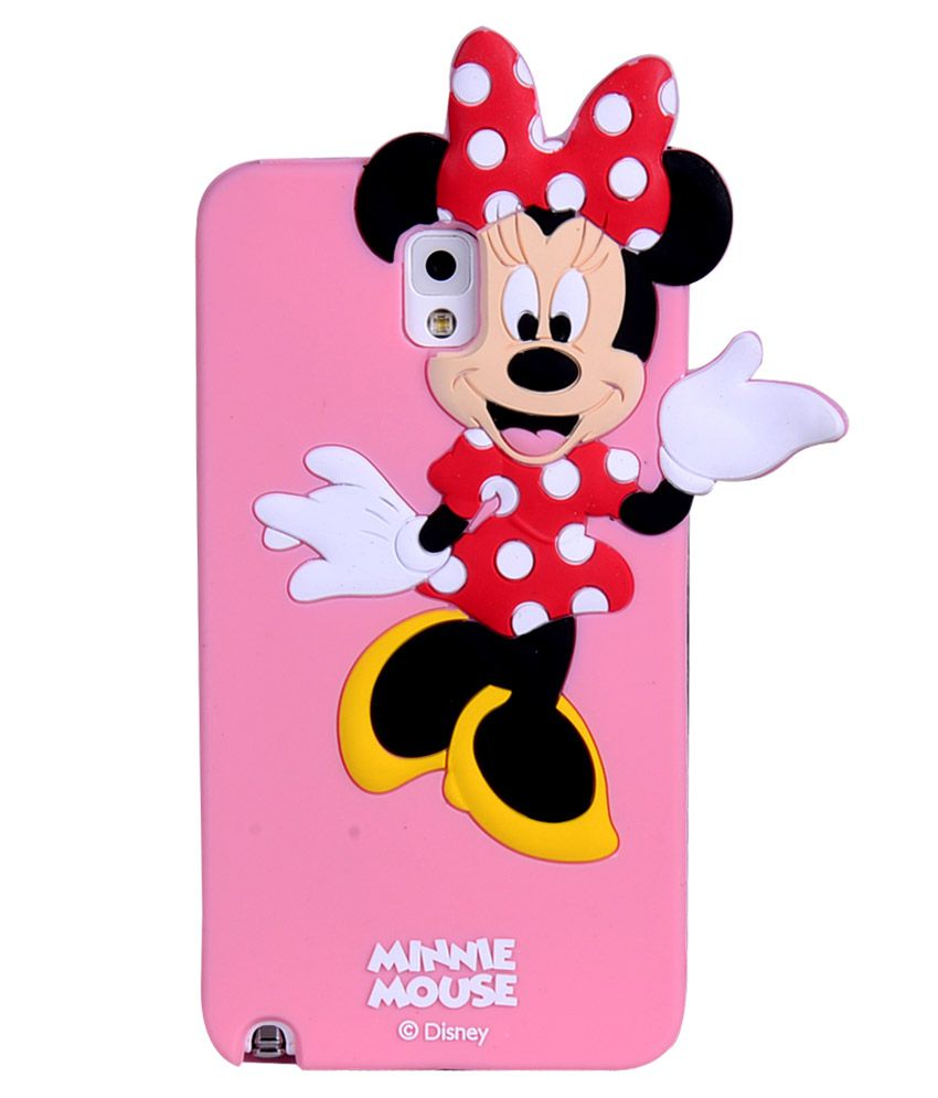 7ec2476eb7 Fuson 3D Disney Cute Minnie Mouse Funky Premium Silicon Case Cover For  Samsung Galaxy Note 3 N9000 N9002 N9005 Lte (Pink) - Plain Back Covers  Online at Low ...