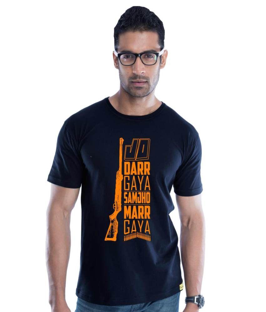 Jo Darr Gaya Cotton Navy Blue   T-Shirt