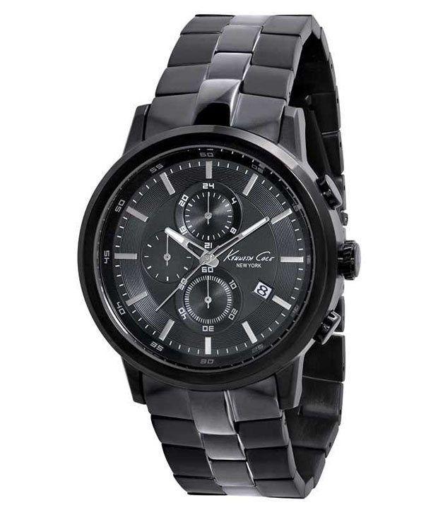 Kenneth Cole Kenneth Cole Black Chronograph Watch