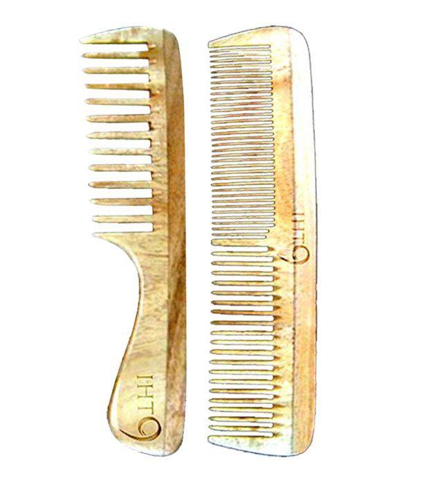 Lass Naturals Iht9 Neem Wood Comb Set Styler