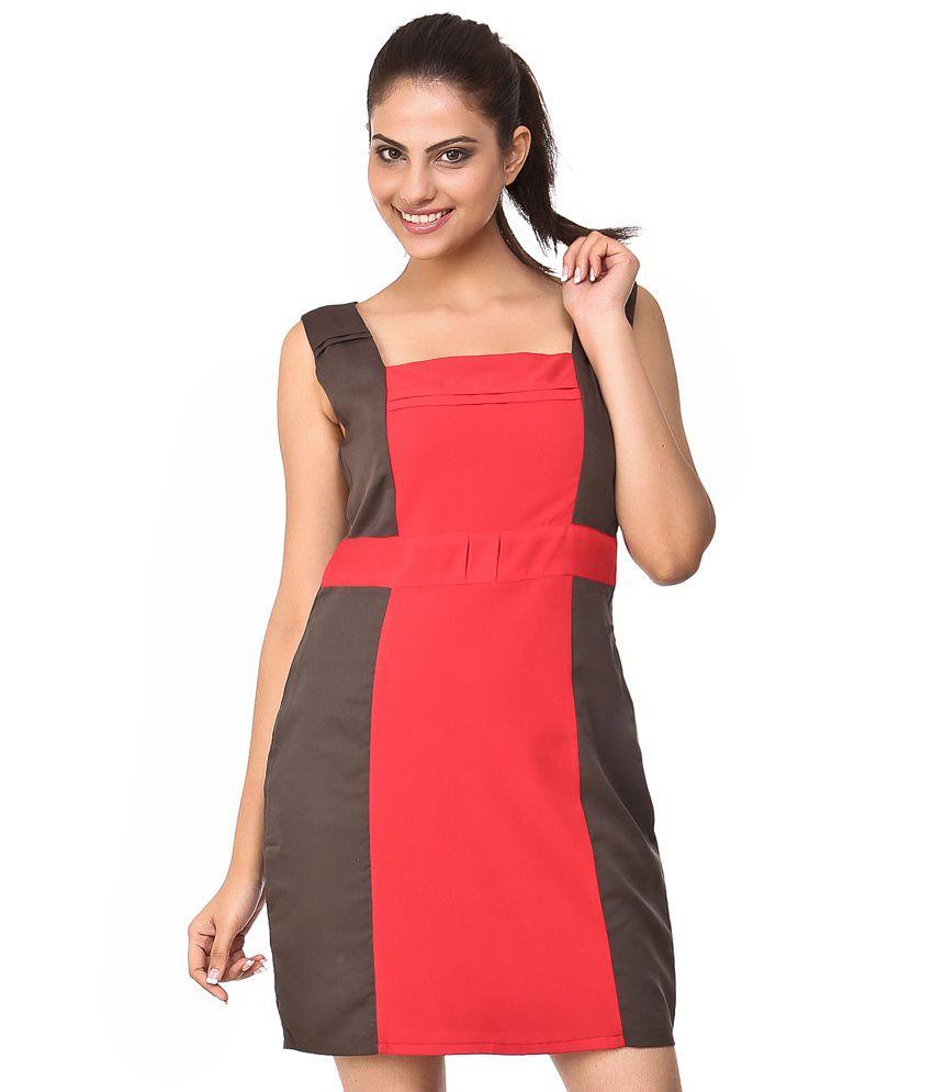 Purplicious Multi Color Poly Crepe Dresses