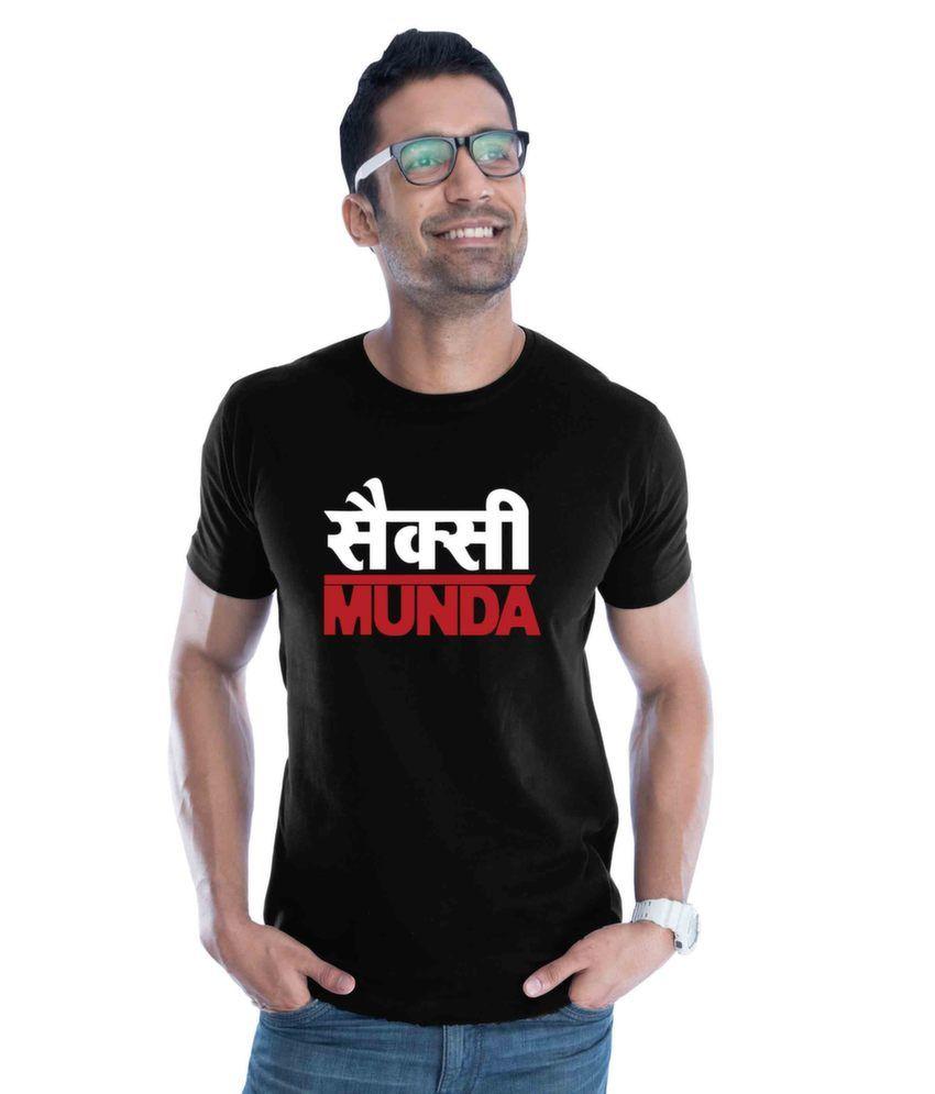 Black t shirt low price - Sexy Munda Cotton Black T Shirt