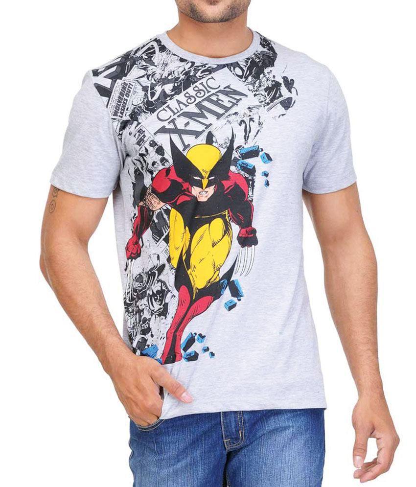 Wolverine Grey Melange  T-Shirt