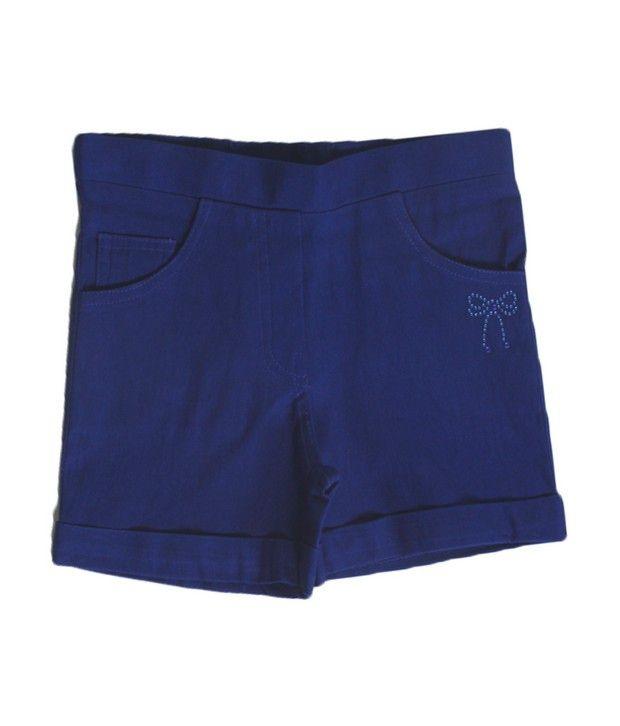Purple Nasty Royal Blue Color Shorts For Kids