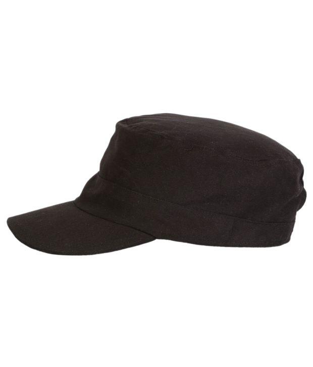 Campus Sutra Black Cotton Military Cap Men - Buy Online   Rs.  d56ca14cb04