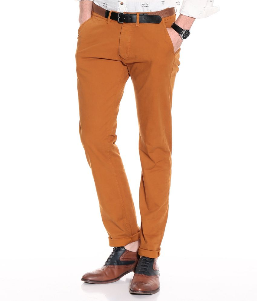 Jack & Jones Brown Slim Casuals Chinos