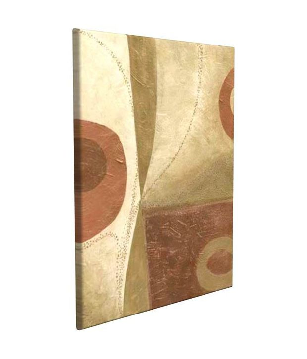 Artjini Alchemy VI Multicolour Canvas, Frame - Wood Paintings-Abstract