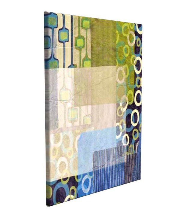 Artjini Mix & Match I Multicolour Canvas, Frame - Wood Paintings-Abstract