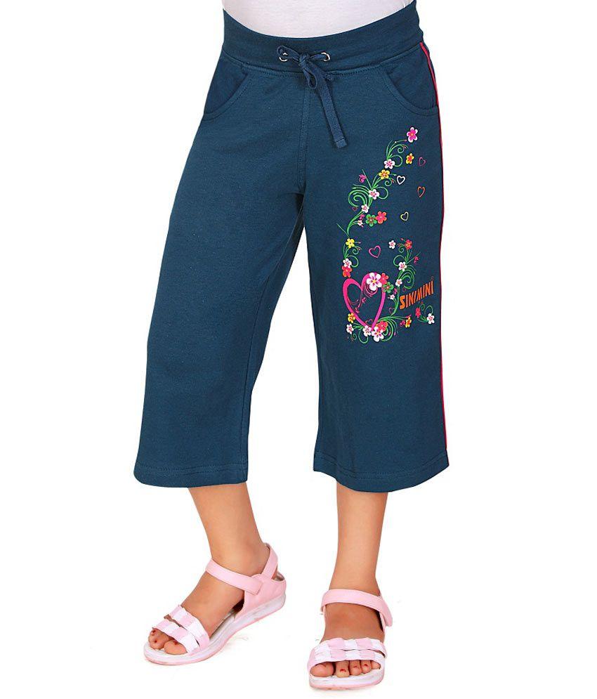 SINIMINI Blue Capris For Girls