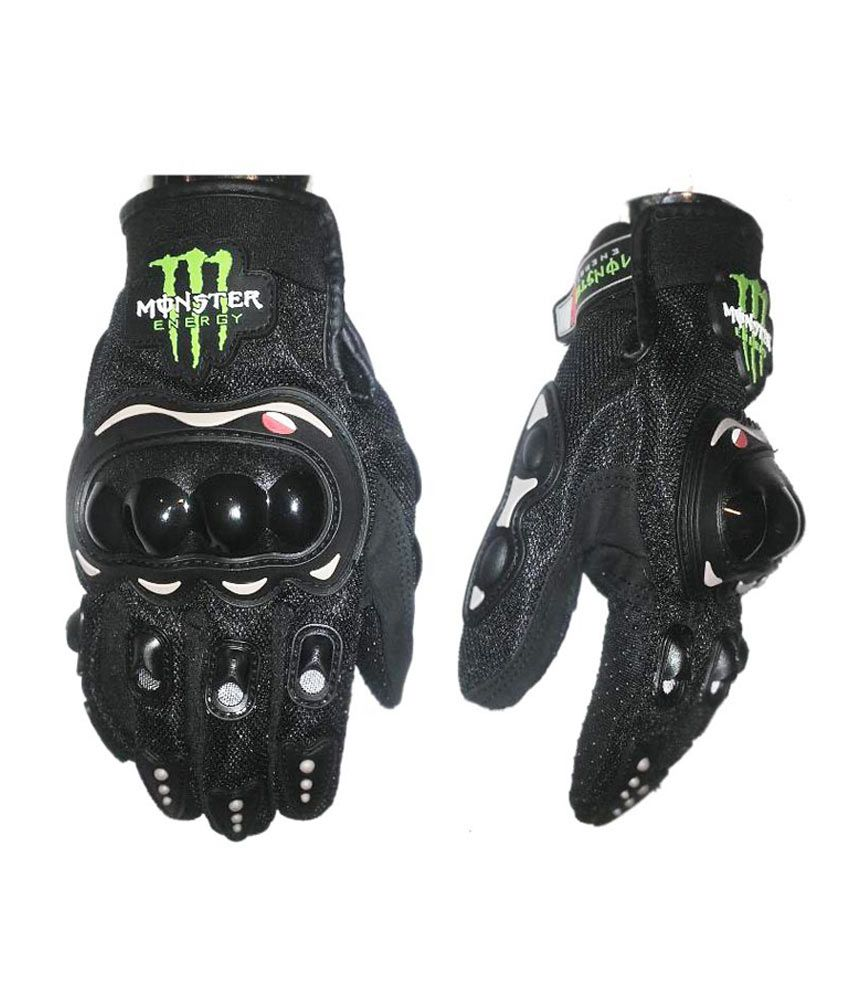 Black gloves online - Monster Biker Glove