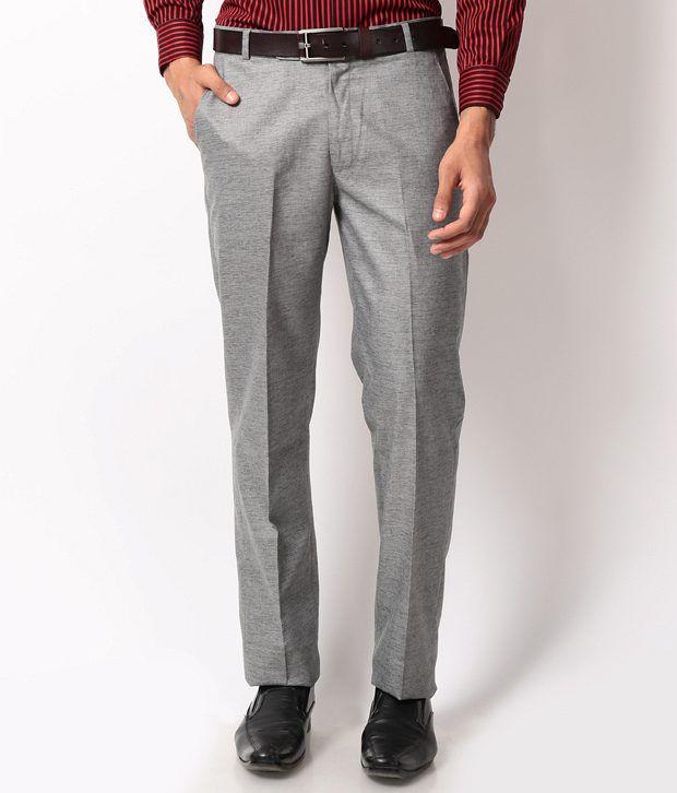 Bellavita Gray Slim Formals Flat