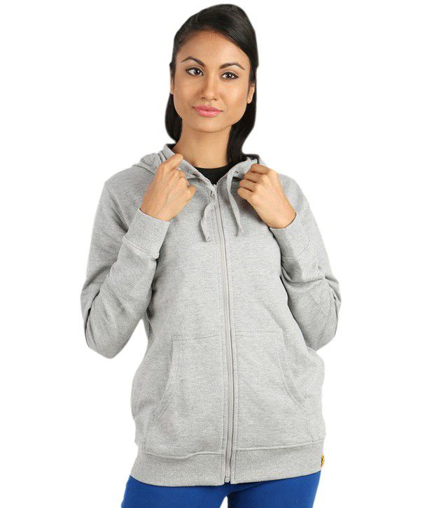 Campus Sutra Gray Cotton - Fleece Zippered