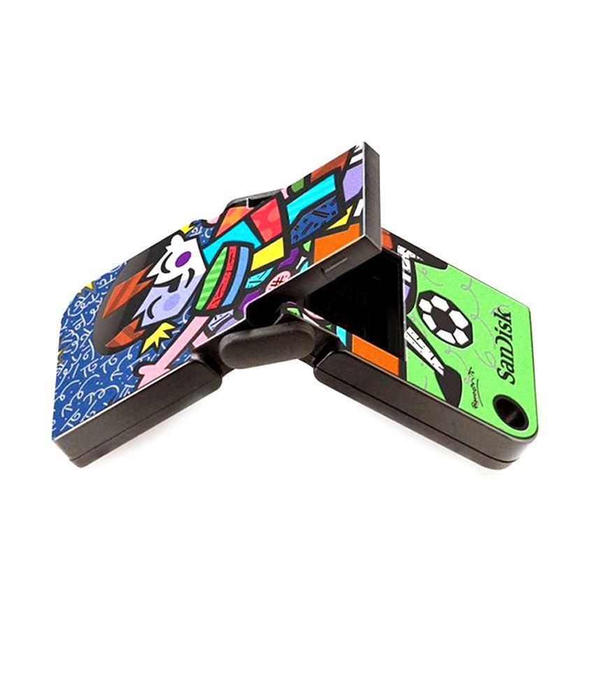 Romero Britto Soccer Edition Sandisk Cruzer Pop USB Flash Drive 8GB