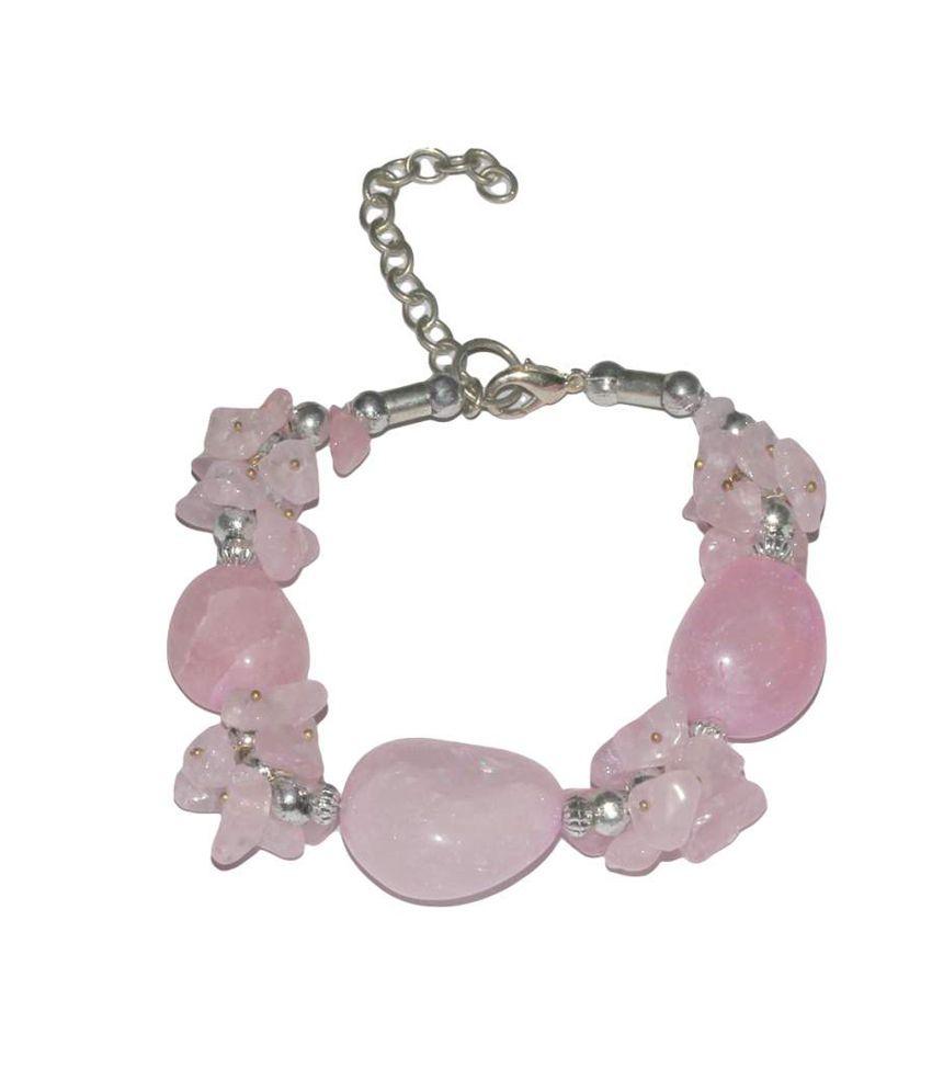 Satyamani Rose Quartz Fancy Bracelet For Love