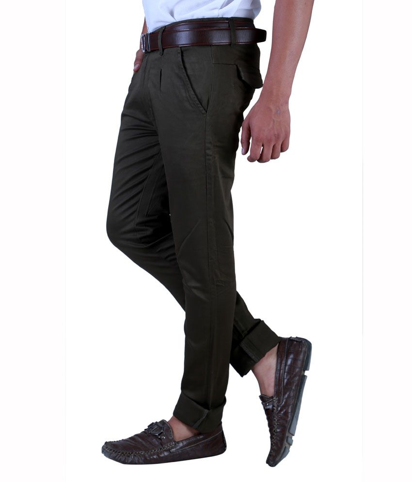 Sam & Jazz Green Slim Casuals   Chinos