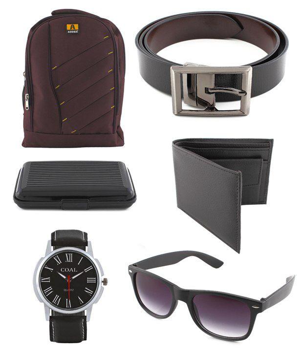 Coal Maroon Bag,Wallet,Belt,Wayfarer Sunglasses,Cardholder,Watch Gift Set  For Men  Buy Online at Low Price in India - Snapdeal d47ebcb404