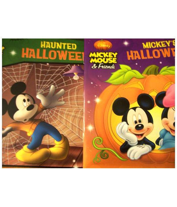 disney mickey mouse friend set of 2 halloween storybooks mickeys halloween mystery haunted halloween 2012 activity books