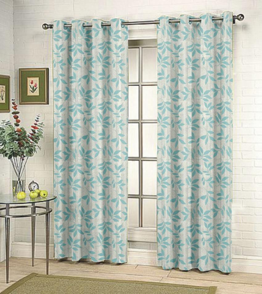 fabutex single door eyelet curtain floral blue buy. Black Bedroom Furniture Sets. Home Design Ideas
