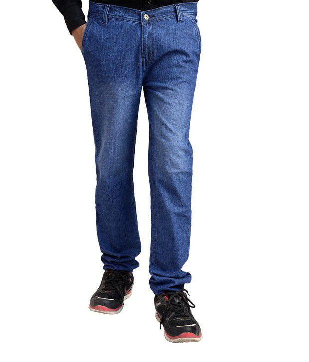 Fashion Blue Regular  Fit Jeans