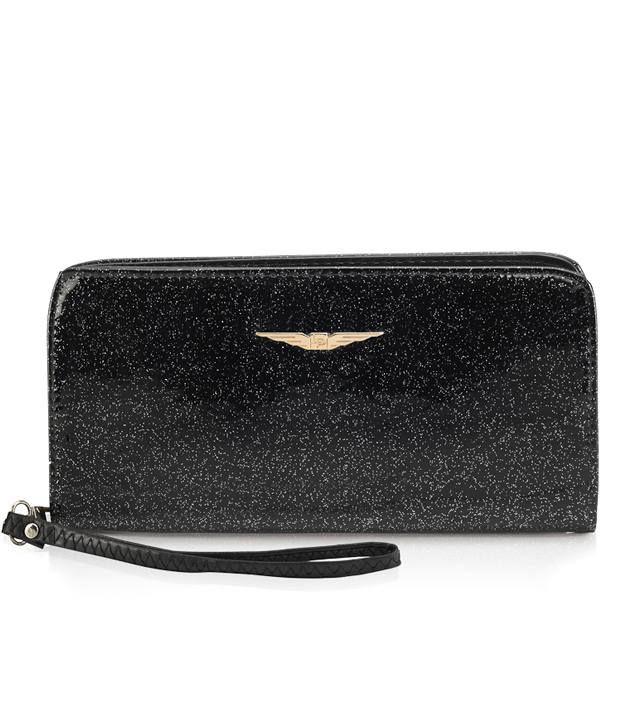 Lino Perros Casual Black Wallet For Women